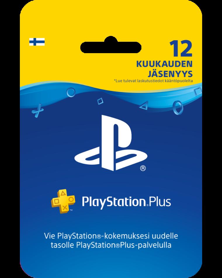 PlayStation Plus card 12 month membership