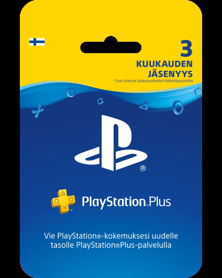 PlayStation Plus card 3 month membership