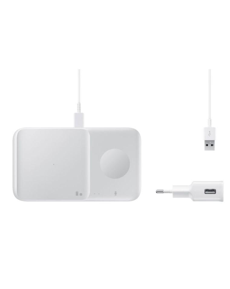 Беспроводное зарядное устройство Samsung Duo белого цвета