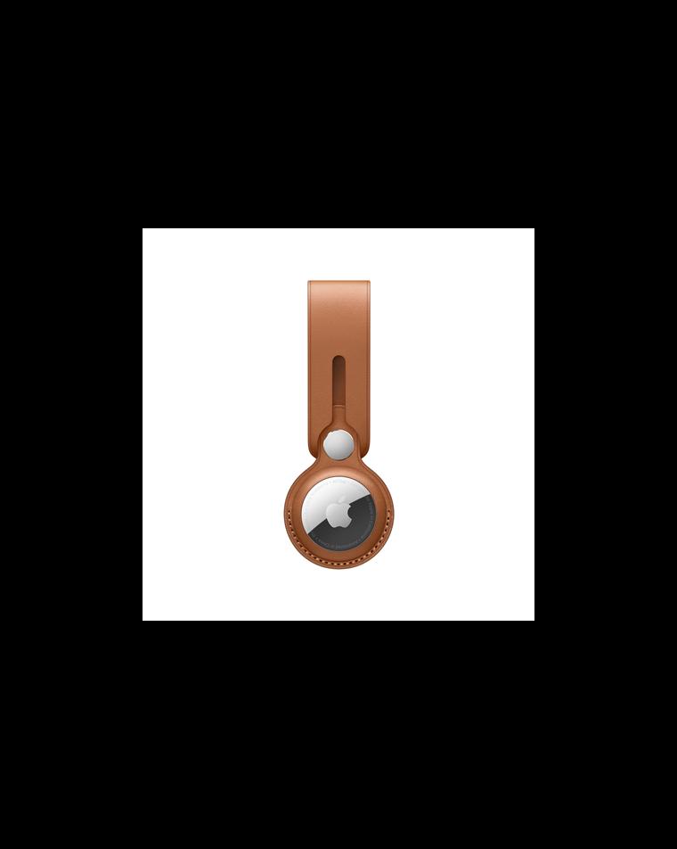 AirTag Leather Loop – Saddle Brown