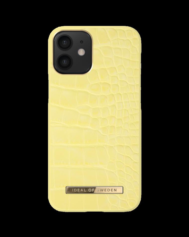 iDeal of Sweden telefoniümbris iPhone 12 Mini Lemon Croco