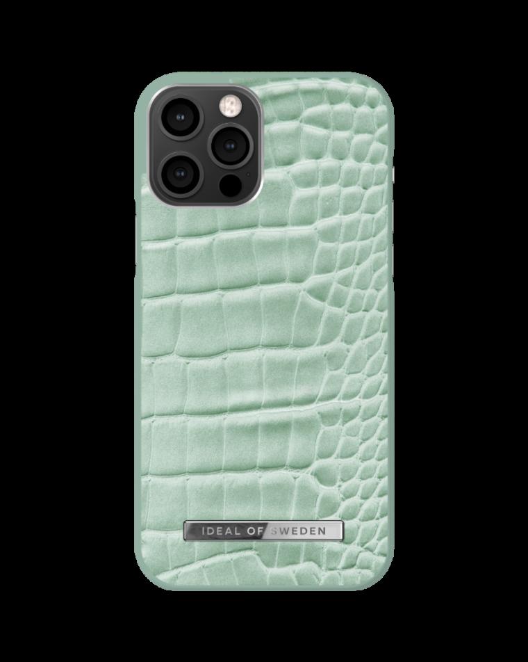 iDeal of Sweden telefoniümbris iPhone 12/12 Pro Mint Croco