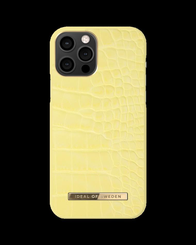 iDeal of Sweden telefoniümbris iPhone 12/12 Pro Lemon Croco