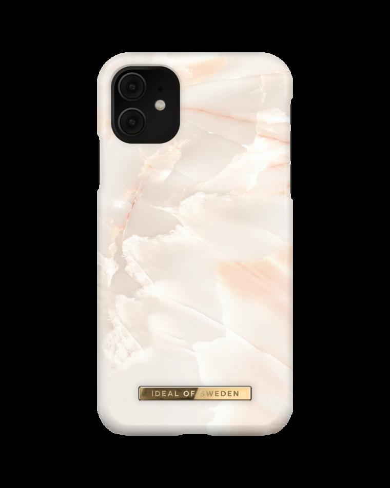iDeal of Sweden telefoniümbris iPhone 11/Xr Rose Pearl Marble