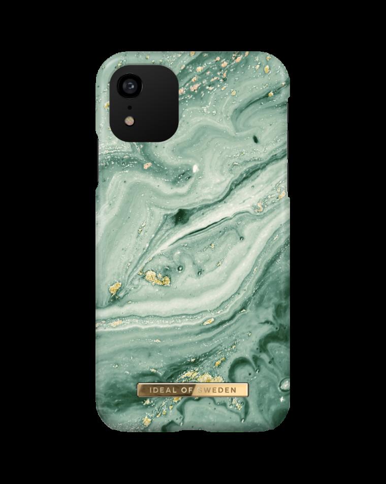 iDeal of Sweden telefoniümbris iPhone 11/Xr Mint Swirl Marble
