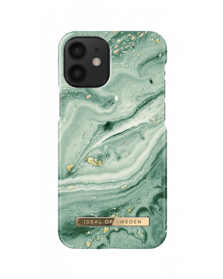 iDeal of Sweden telefoniümbris iPhone 12 Mini Mint Swirl Marble