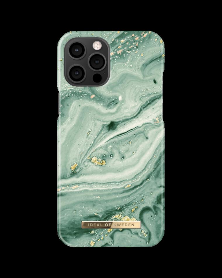 iDeal of Sweden telefoniümbris iPhone 12 Pro Max Mint Swirl Marble