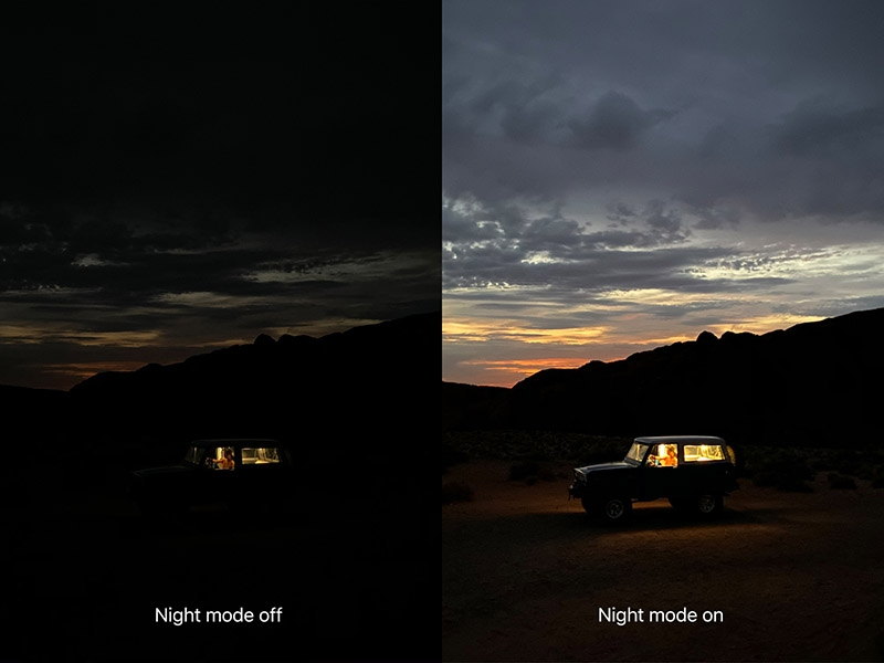 iPhone night mode