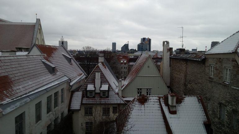 Vaade Tallinnale mobiiltelefoni Just5 kaamera läbi / Foto autor: Aivar Pau